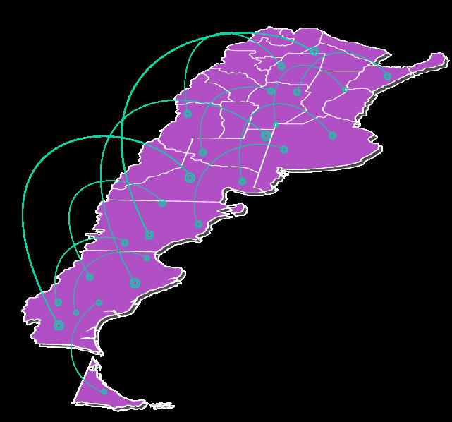 Mapa de los mejores prestadores de Jelper